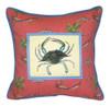 Chesapeake Bay Blue Crab Indoor Outdoor Medium Pillow