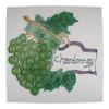 Chardonnay Wine Tasting Grapes Ceramic Tile Art 8X8 Inches