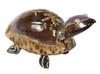 Sea Shell Seashell Turtle Figurine Carved Palm Tree