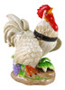 Majestic Country Rooster Porcelain Hinged Trinket Box