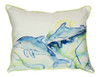 Coastal Playful Dolphins Indoor Outdoor Throw Pillow 11 X 14 Inches
