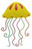 Sunny Yellow Jellyfish Sea Creature 13 Inch Haitian Metal Art Wall Decor