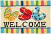 Bright Colors Flip Flop Welcome Accent Area Rug 30 X 20 Inches