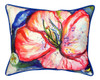 Tropical Red Hibiscus 16X20 Inch Large Indoor Outdoor Pillow Betsy Drake Design