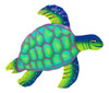 Swimming Sea Turtle Haitian Metal Art 12 Inch Painted Wall Plaque
