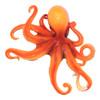 Coastal Sea Creature Orange Octopus 9 Inch Wall Decor Resin Plaque