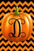 Pumpkin Chevron Monogram D Double Sided 12 X 18 Inch Garden Flag