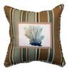 Nautical Blue Coral Ocean Indoor Outdoor Pillow