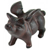 Antique Replica Flying Pig Cast Iron Tabletop Figurine Antiqued Brown