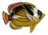 Big 12 Inch Striped Tropical Fish Red Fin Bath Childrens Wall Decor 12TFW84
