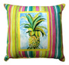 Tropical Pineapple Indoor Outdoor Pillow Medium Pink 17 x 17 Inch