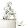 Lovely Coastal White Mermaid 7 Inches Tabletop or Shelf Sitter Figurine
