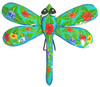 Teal Dragonfly Hibiscus Haitian Metal Art Wall Decor