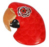 Tropical Red Parrot Head 3D Refrigerator Magnet 54C