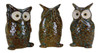See Hear Speak No Evil Owls Ceramic Tabletop Accent Decor Figurines Set of 3
