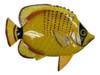 Big 12 Inch Striped Yellow Tropical Fish Bath Childrens Wall Decor 12TFW82