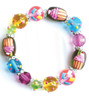 Crazy Cupcake Sugar Sweet Rhinestone Glass Beaded Kate and Macy Stretch Bracelet