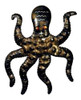 Coastal Antiqued Octopus Sea Creature Light Sconce 15 Inch Metal Wall Decor