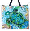 Allen Designs Happy Sea Turtle 17 Inch Shopper Bag Beach Tote