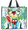 Allen Designs Artistic Cat Bird 17 Inch Shopper Bag Beach Tote
