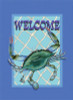 Beach Welcome MD Blue Crab Standard Banner Flag 28 x 40 Inch