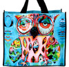 Allen Designs Pink Artsy Owl 17 Inch Shopper Bag Beach Tote