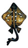 Manta Ray Stingray Skate 17.5 Inch Wall Sconce Light Antiqued Finish