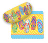 Flip Flop Parade Sunglasses Case with Matching Microfiber Lens Cloth