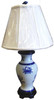 Nautical Maryland Blue Crab Porcelain Table Lamp 250 Watt Blue and White
