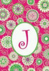 Beautiful Fashion Double Sided Monogrammed J Garden Flag