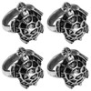 Elegant Metal Aluminum Turtle Napkin Rings Set of 4