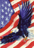 Patriotic USA Liberty Eagle Garden Flag Banner 12.5 x 18 Inches