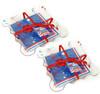 Red White Blue Patriotic Paper 7 Inch Napkins Ruffled Napkin Holders Set of 2