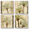 Key West Tropical Palm Trees Absorbent Coasters Set of 4