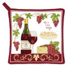 Alice's Cottage Red Wine and Red Grapes Kitchen Potholder