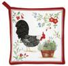 Alice's Cottage Black and White Rooster Kitchen Potholder