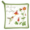 Alice's Cottage Hummingbird and Columbine Flowers Kitchen Potholder