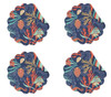 Bimini Island Seashells Round Quilted Placemats Set of 4 Cotton
