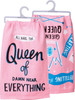 Queen of Everything Drama Crafting Castle Naps Pink Kitchen Dish Towel Cotton