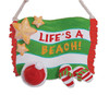 Cape Shore Lifes a Beach Santa Hat Flip Flop Sandals Christmas Holiday Ornament