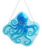 December Diamonds Ocean Blue Octopus Glass Garden Patio 9 Inch Suncatcher