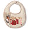 Mud Pie My First Gobble Turkey Thanksgiving Appliqued Baby Toddler Bib