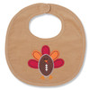 Mud Pie Football Shaped Turkey Appliqued Baby Toddler Bib