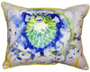 Betsy Drake Spiney Puffer Fish Accent Throw Pillow Indoor Outdoor 18 Inches