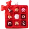 Box Of Assorted Chocolates Christmas Holiday Ornament Glass