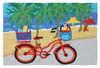Beach Ride Bicycle on Ocean Boardwalk 33 X 21 Inches Area Accent Washable Rug