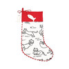 Cat Person Meow Cat Crazy Christmas Holiday Stocking Red and White