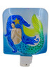 Mermaid In the Sea Night Light Electric 5 Inches Glass