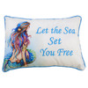 Let the Sea Set You Free Mermaid Accent Throw Pillow 12 Inches