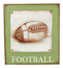 Green Football Game Sports Fan Wall Plaque Wood 12 Inches